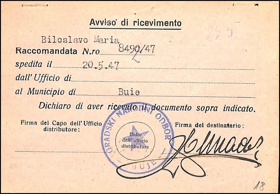 Lot 1577 - Istra i Slovenačko primorje - Zona B STT Vuja / Istria and Sloven. cost (LITTORALE) Zone B STT- VUJA 1947 -  SFK Auctions Public auction #52 Western Balkans incl. Serbia, Croatia, Slovenia, Montenegro, Bosnia, Yugoslavia etc.